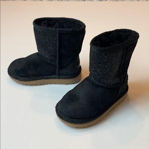 UGG Toddler Black Classic Short Serein Boot